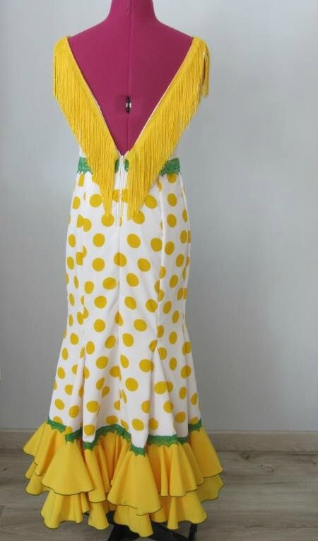 robe flamenco jaune 3