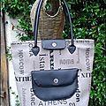 Deuxième sac à main en simili et son mini sac cabas assorti
