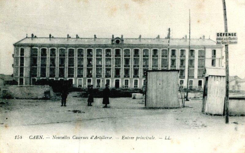 Caen, nouvelles casernes d'artillerie, entrée principale