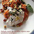 Salade-repas de carottes râpées aux parfums asiatiques