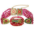 Indian ruby and emerald bracelet. india. 20th century