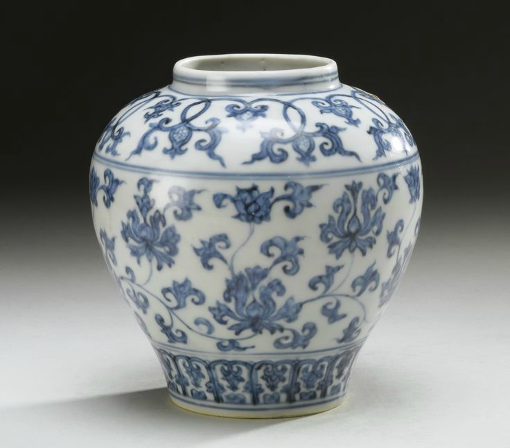 A Ming Blue And White Lotus Jar Ming Dynasty 15th 16th Century Alain R Truong