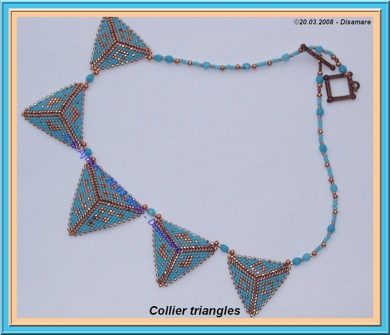 Triangles Copper et turquoise