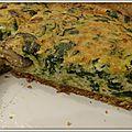 Quiche champignons et courgette sur fond de tarte au quinoa