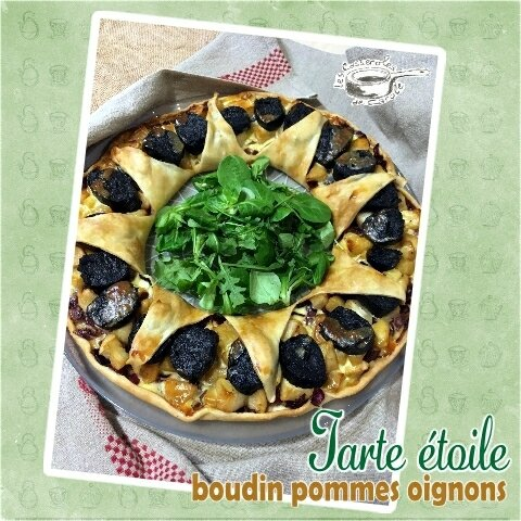 tarte étoile boudin pommes oignons (SCRAP)