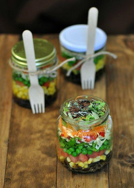 salade en pot individuel