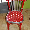 Chaise bistrot relookée