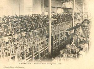 intérieur fabrique lacets St-Cham