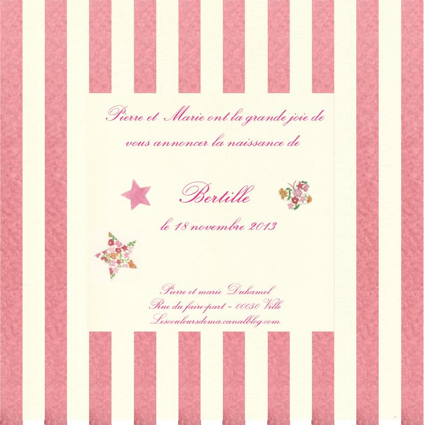 FP rayures verticales roses et blanc cassé Bertille liberty