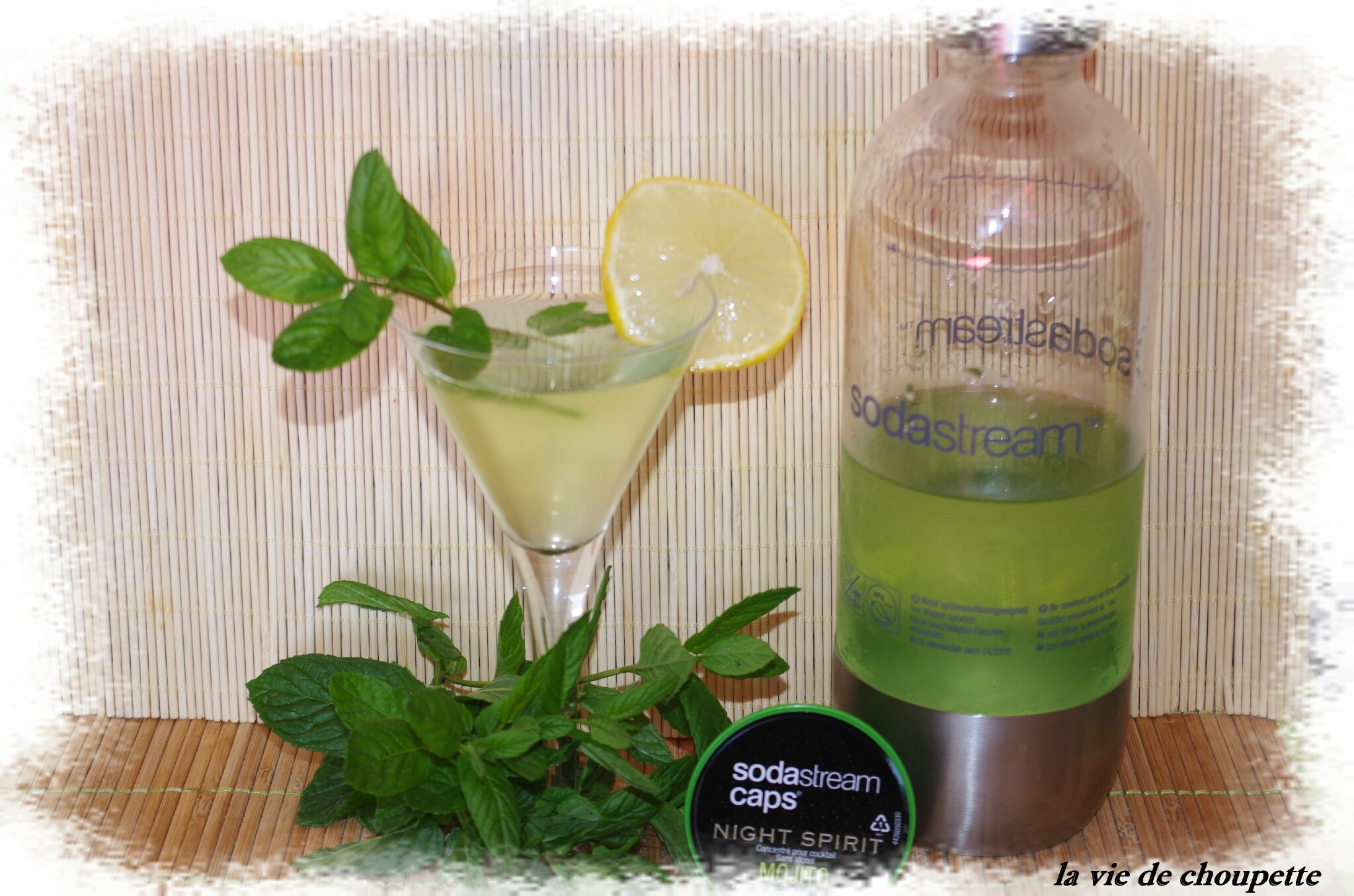 mojito sans alcool a la sodastream quand choupette et papoune cuisinent. Black Bedroom Furniture Sets. Home Design Ideas