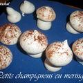 Petits champignons en meringue