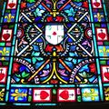 Détail de la verrière de la chapelle