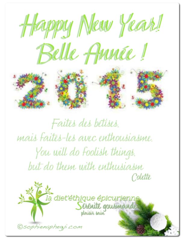 Happy New Year Belle Annee 2015