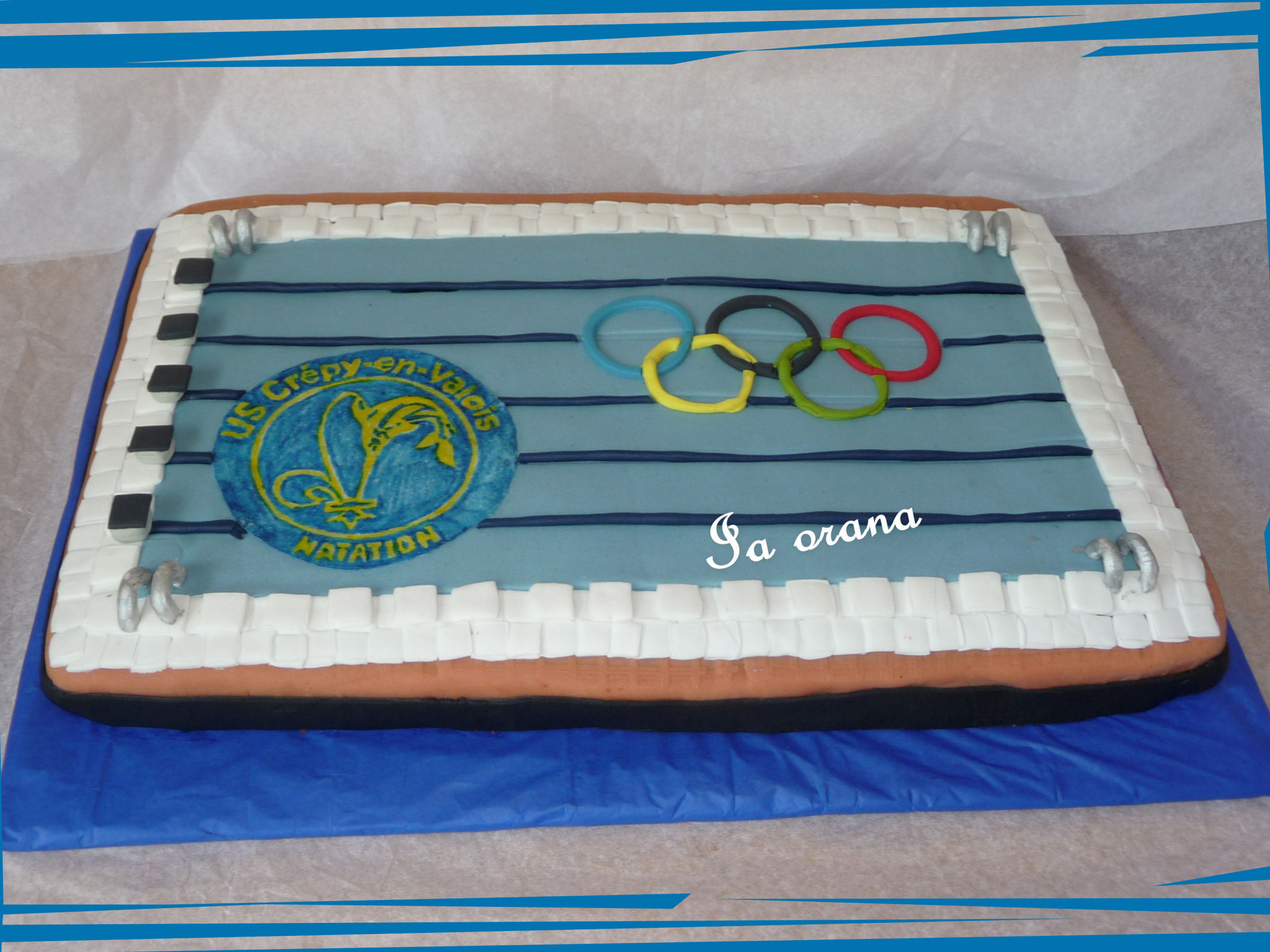 Gâteau piscine olympique/Swimming pool cake