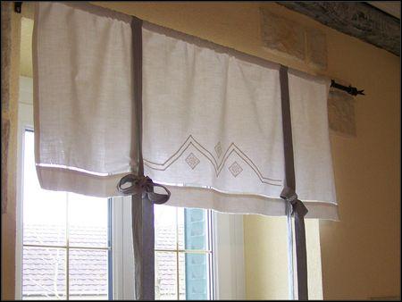 Petit air de printemps perle et pimpin - Faire des rideaux avec draps anciens ...