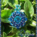 pendentif bolero rivoli vintage bermuda blue
