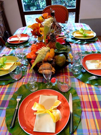 Decoration Table Guadeloupe