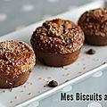 Coco muffins sans gluten aux pépites de chocolat.
