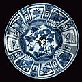 A kraak blue and white porcelain small dish, wanli period (1573-1619)