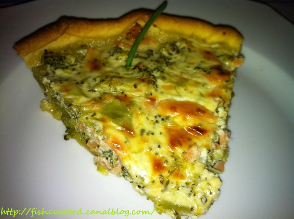 Quiche brocolis-saumon-boursin (2)