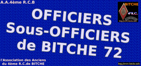 OFFICIERS sous OFFICIERS de 1972 a