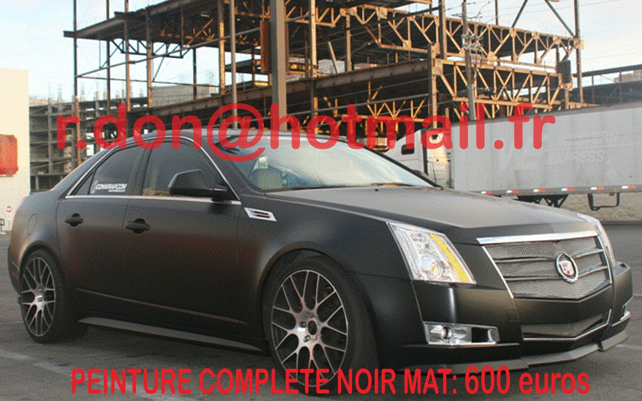 cadillac cts voiture mat prix peinture automobile peinture de v hicule noir mat black mat. Black Bedroom Furniture Sets. Home Design Ideas