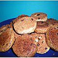 Petits biscuits cerise-choco