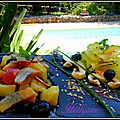 Harengs à l'huile d'olive et pommes de terre, câpres à la provençale