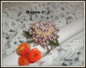 Dahlia cactus bague n° 3