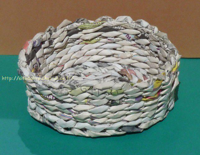 Corbeille en papier journal recyclage et cie - Comment faire des travaux manuels ...