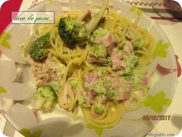 Spaghetti Alfredo au brocoli.