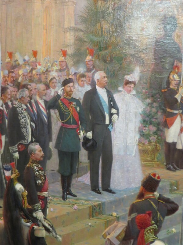 Tableau de l'Ermitage, Visite russe à Paris