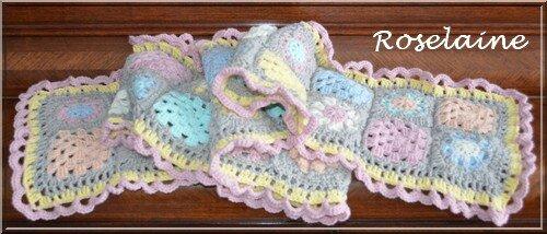 Roselaine295 écharpe granny