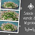 Salade de viande à la liégeoise