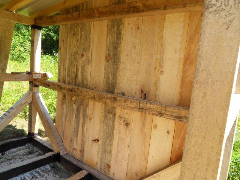 pose des planches de bardage photo de l 39 abri de jardin bienvenue sur tang et chalet. Black Bedroom Furniture Sets. Home Design Ideas
