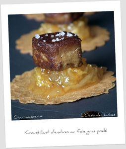Croustillant d'endives au foie gras poelé@@@