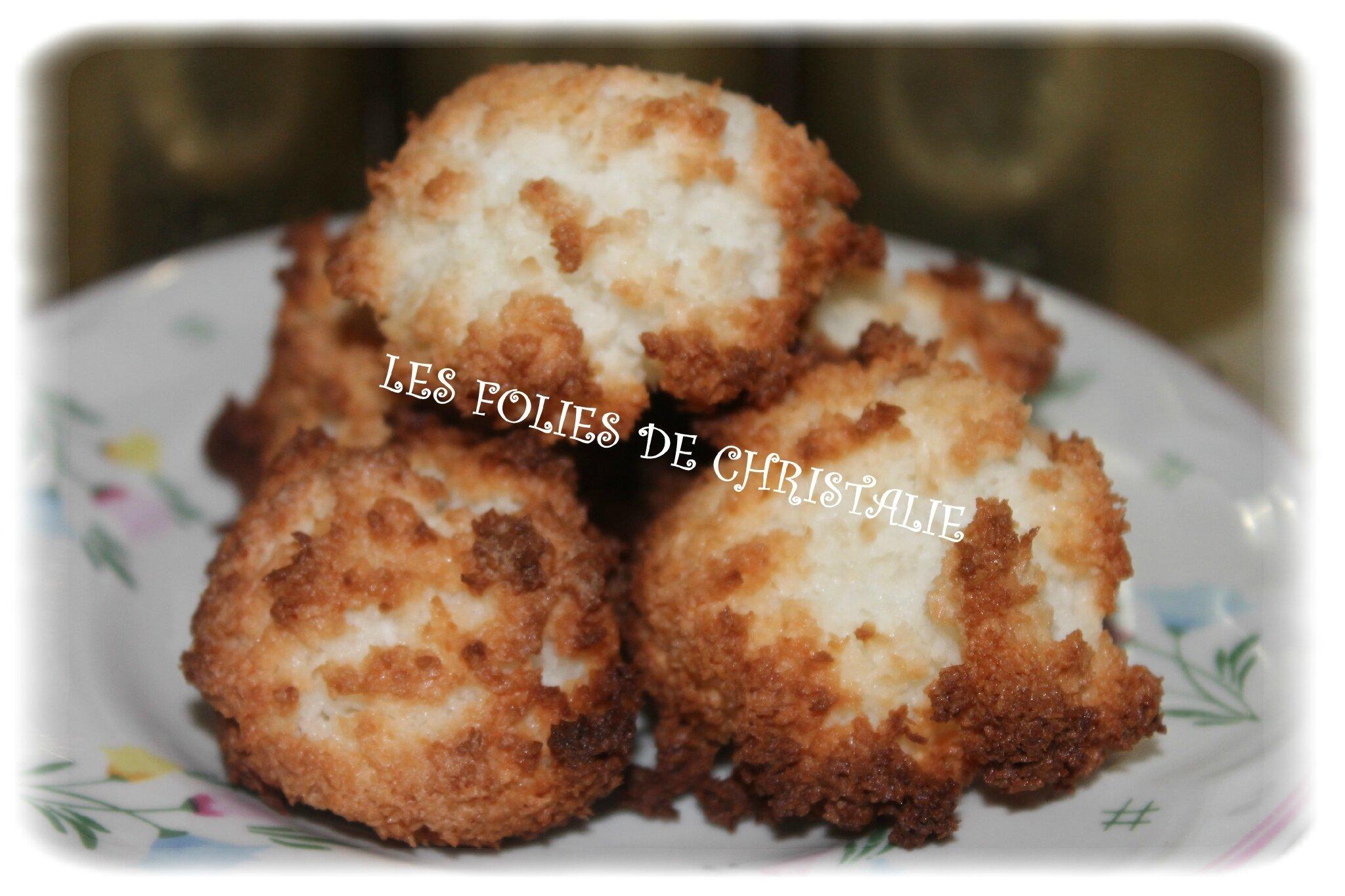 Rochers coco thermomix les folies de christalie ou - Recette dessert rapide thermomix ...