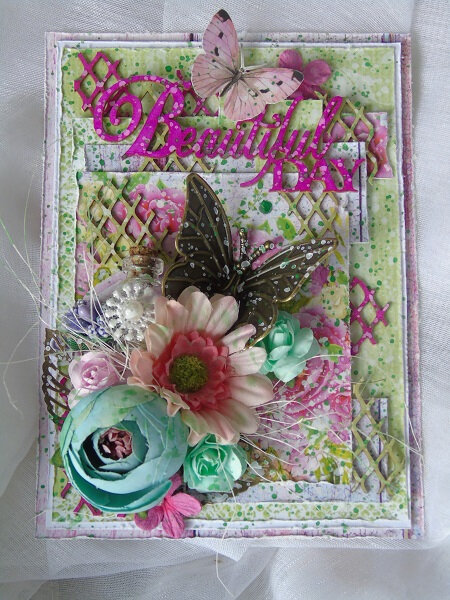 Challenge Version Scrap Défi n°=3 /Carte printanière