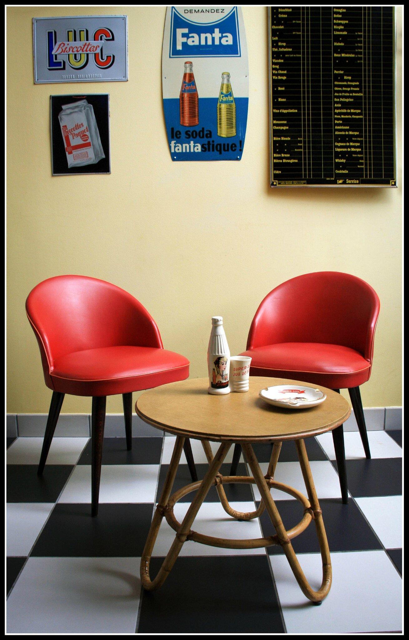 fauteuils cocktail des ann es 50 vintage 50 39 s 60 39 s 70 39 s 80 39 s. Black Bedroom Furniture Sets. Home Design Ideas