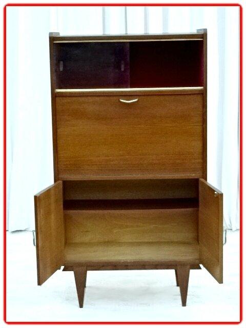 secretaire bar meuble tv vintage 1970 vendu meubles d co vintage design scandinave. Black Bedroom Furniture Sets. Home Design Ideas