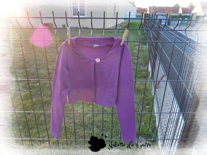 Aura et Nina sweat purple