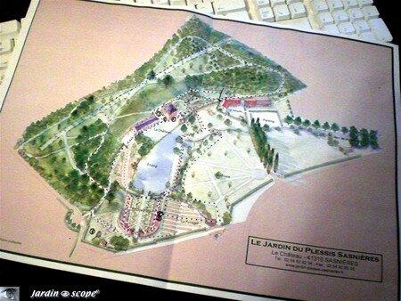 Plan du Jardin du Plessis Sasnières