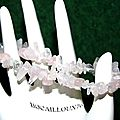 BRACELET QUARTZ ROSE 14 CHIPS