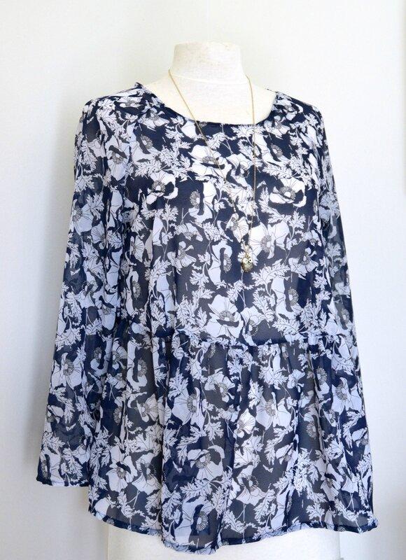 blouse Marthe bleue 1