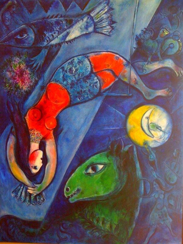Marc Chagall, Le cirque bleu