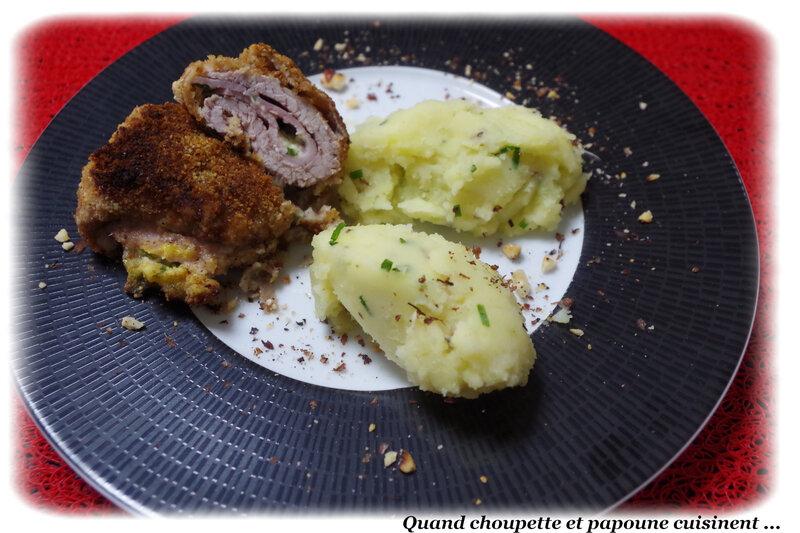 cordon bleu, écrasé de pommes de terre à l'huile d'olive-2781