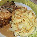 Mousse de poulet, bardée de lard