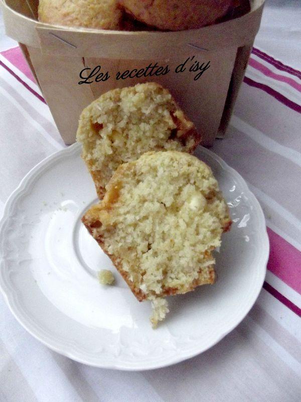 muffins noix coco chocolat blanc2