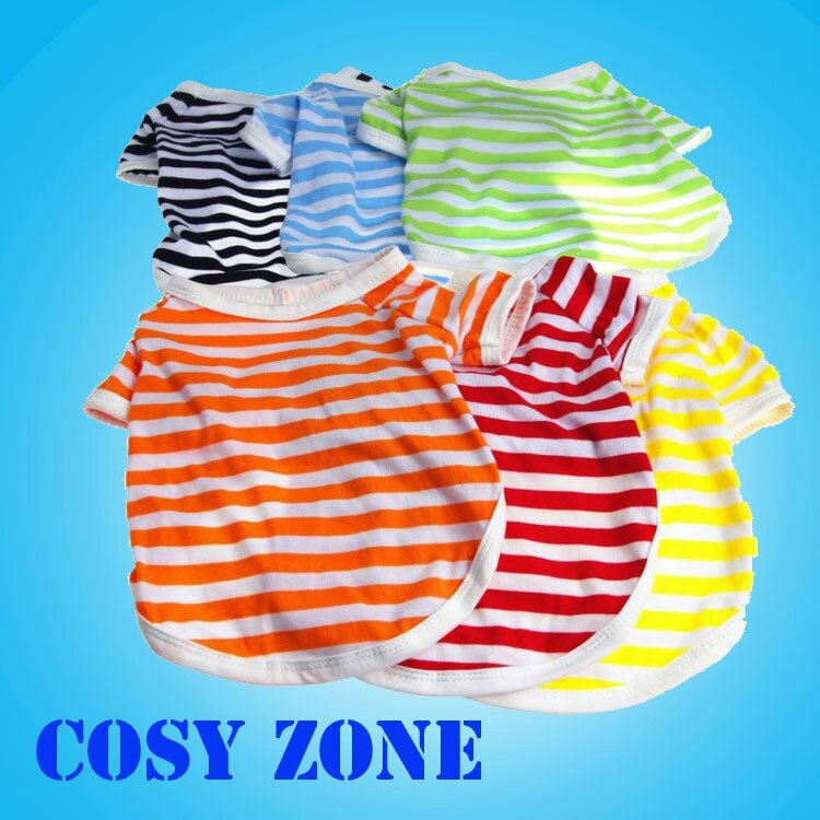 DGX010-Cheap-and-Fashion-100-Cotton-Stripe-font-b-Dog-b-font-T-Shirt-Puppy-wear