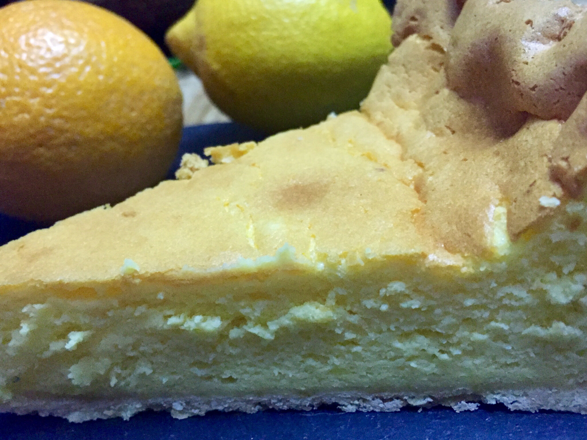 Cheesecake au Mascarpone A l'Orange et au Citron